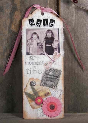 Sisters Altered Art Bookmark
