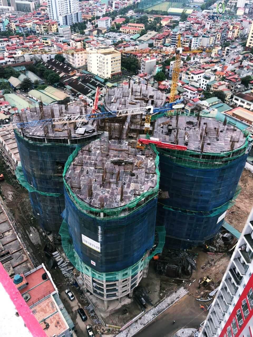 Cập nhật tiến độ dự án Sky View Plaza Giải Phóng tháng 12