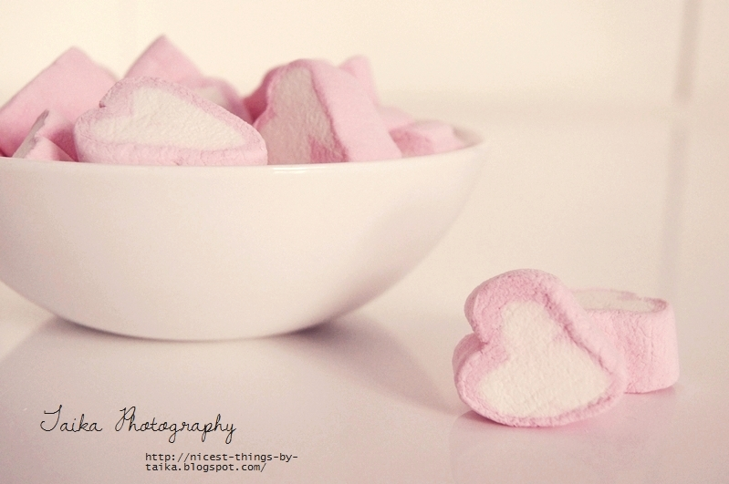 Rosa Marshmallow Herzen