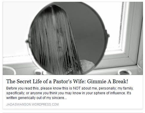 Pastors' Wives {Connect}: The Secret Life of a Pastor's Wife: Gimmie A Break!