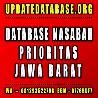 Jual Database Nasabah Prioritas Jawa Barat