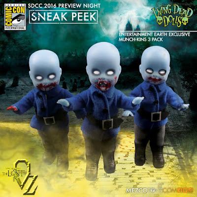 Mezco Living Dead Dolls Entertainment Earth Exclusive Munch-Kins 3 Doll Pack
