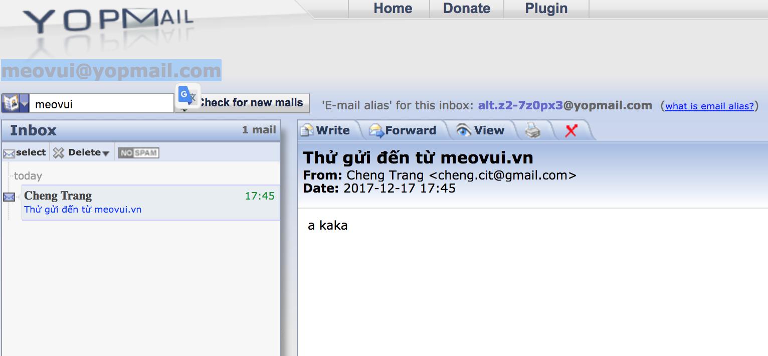 Share website mail 10 phút - Mail ảo cực hay và nhanh ...