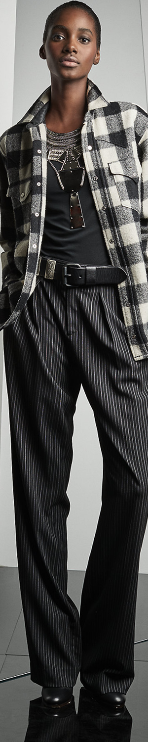Ralph Lauren Harrison Pinstriped Wool Pant