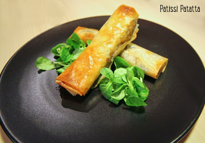 recettes de poêlée orientale façon nems, feuilles de brick, nems aux saveurs orientales