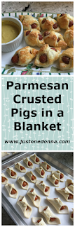 Parmesan crusted pigs-in-a-blanket.