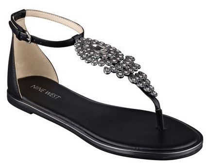 nine west jeweled sandals