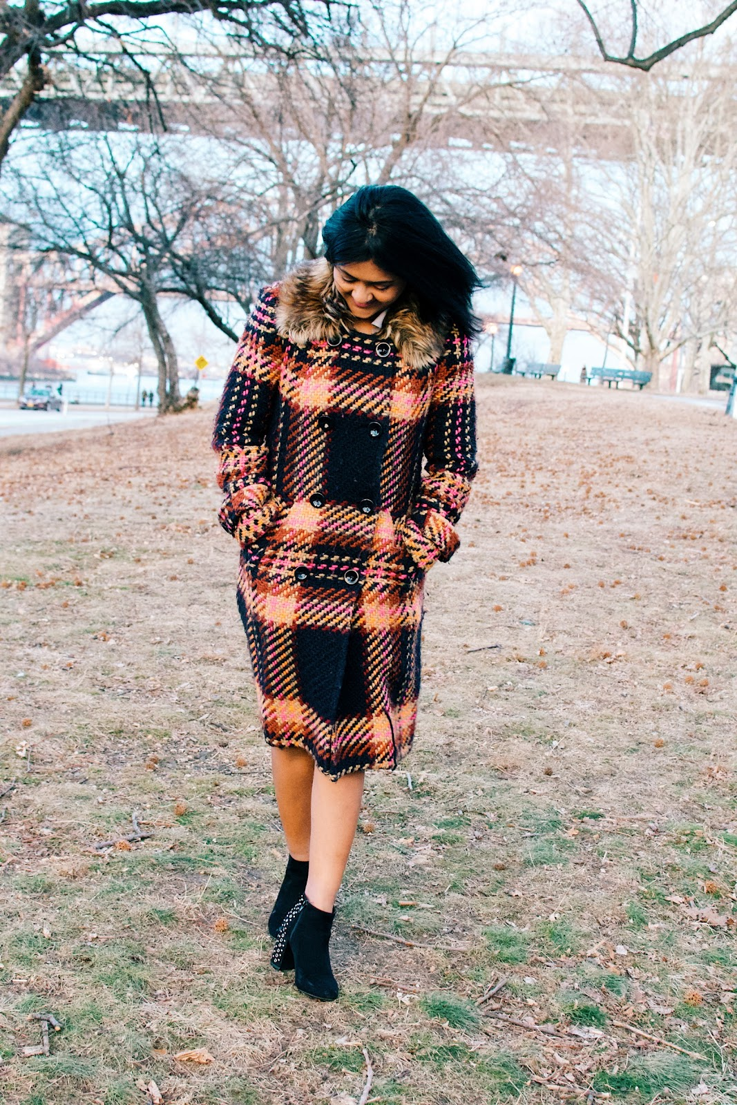 plaid coat for the winter