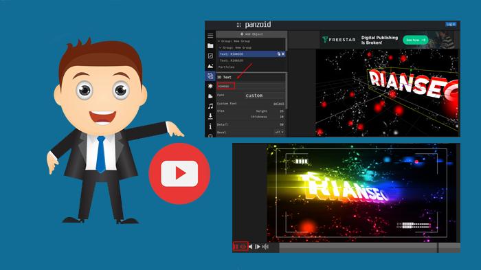 Panduan Cara Membuat Intro Video 3D Keren Untuk Youtobe Menggunakan Situs Panzoid