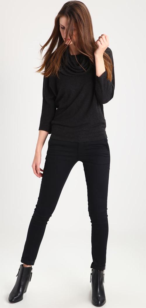 Tee-shirt femme noir manches 3/4 Lauren Ralph Lauren