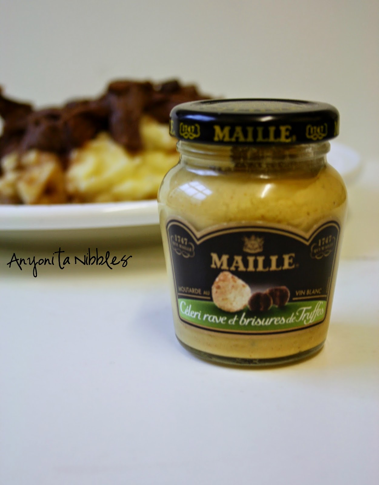 Sophisticated Maille mustard with tender beef