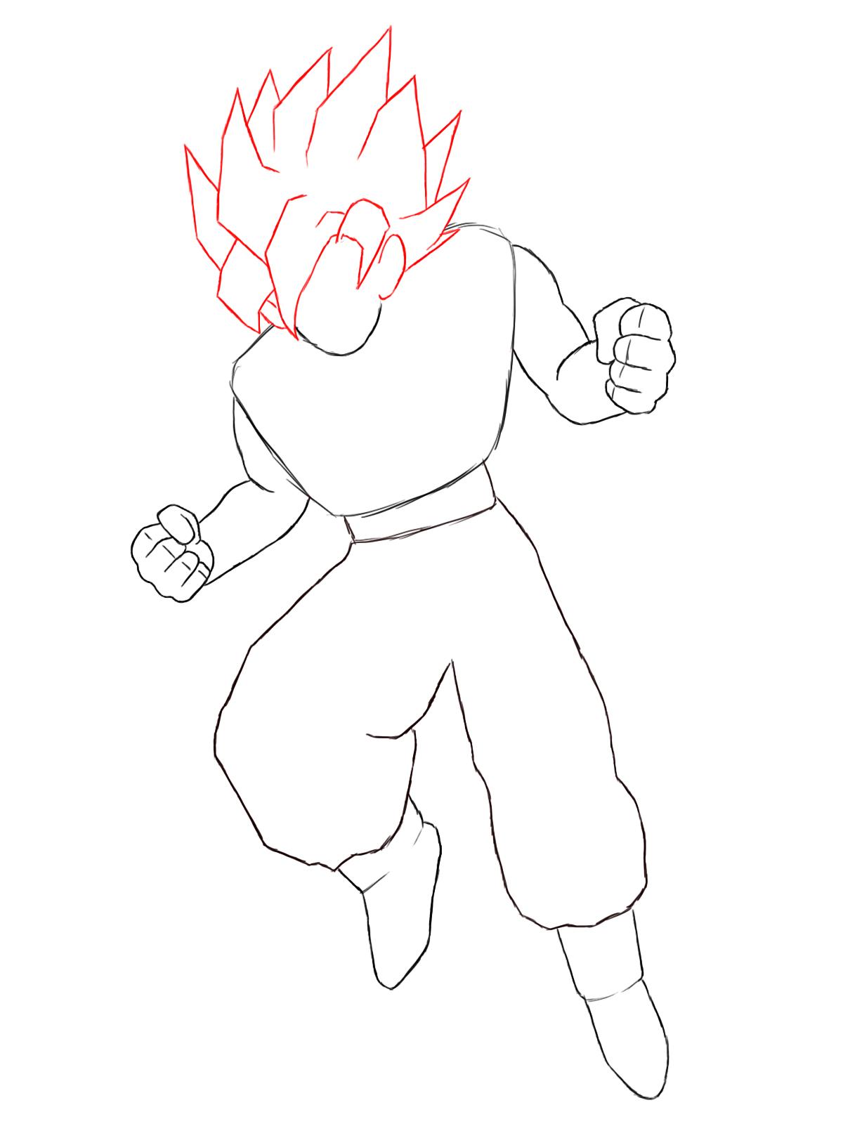 How To Draw Goku - Draw Central