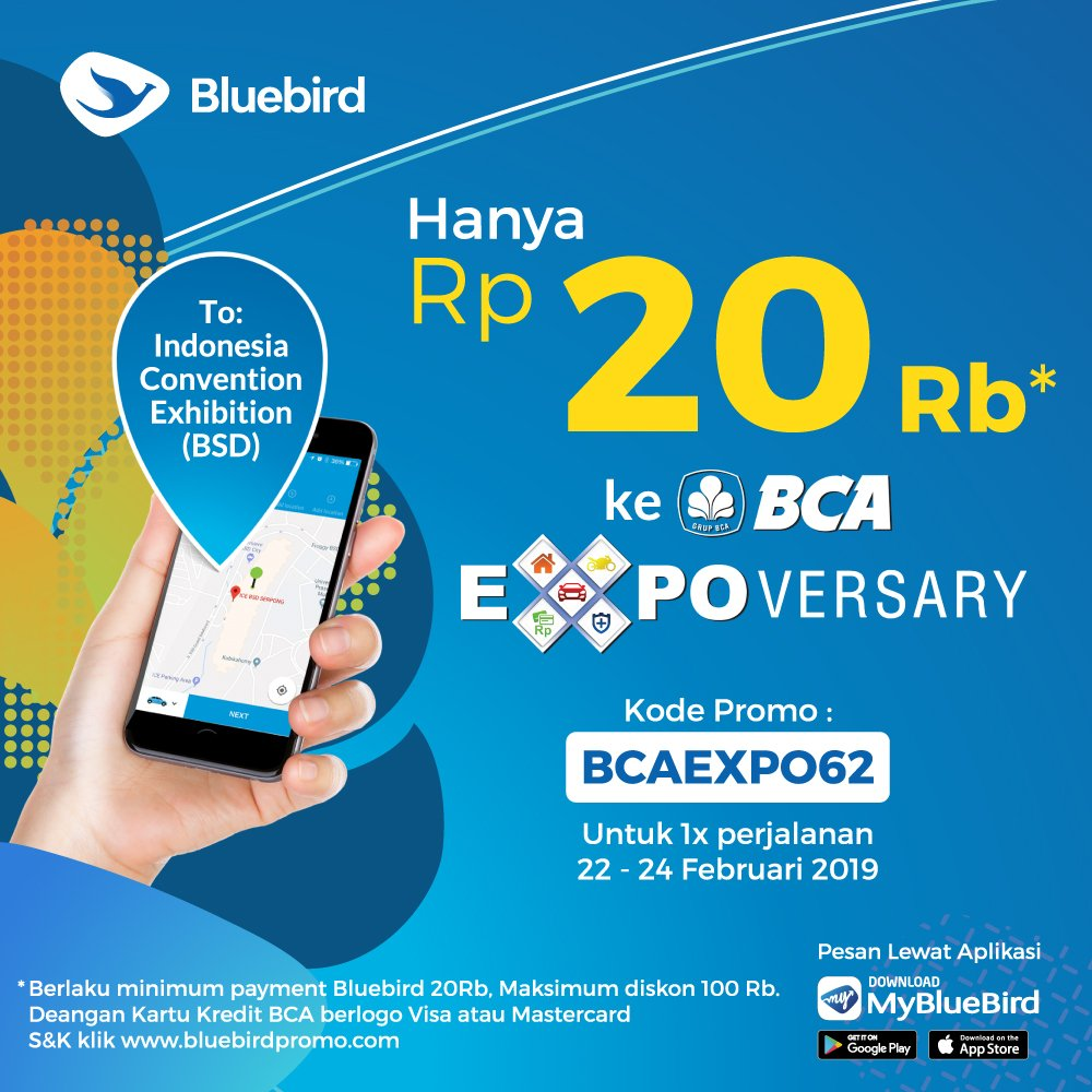 #BlueBird - #Promo #Voucher 20 Ribu Ke ICE BSC Serpong (s.d 24 Feb 2019)