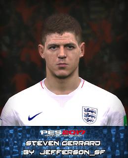 PES 2017 Faces Steven Gerrard by Jefferson_SF
