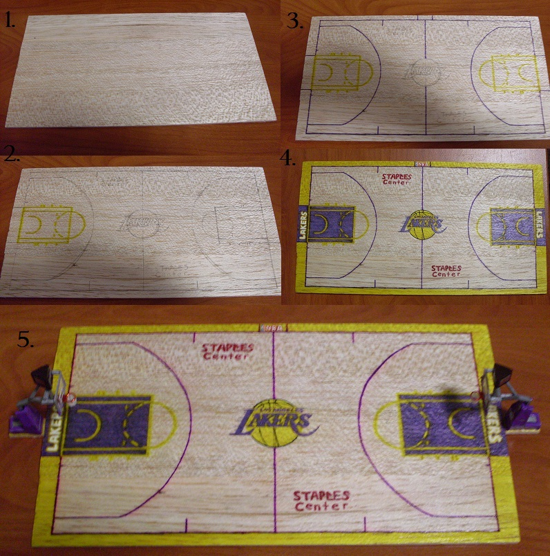 how to make a basketball court model