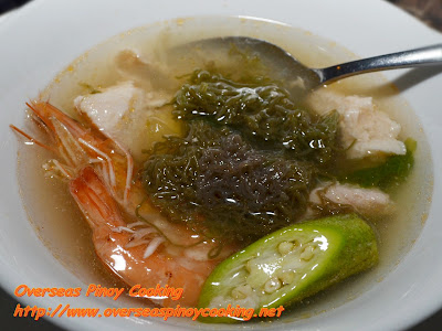 Seafood Soup with Lukot(Lokot)