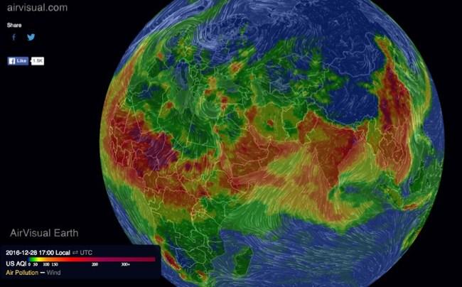 Green Grandma Stunning 3D air pollution map