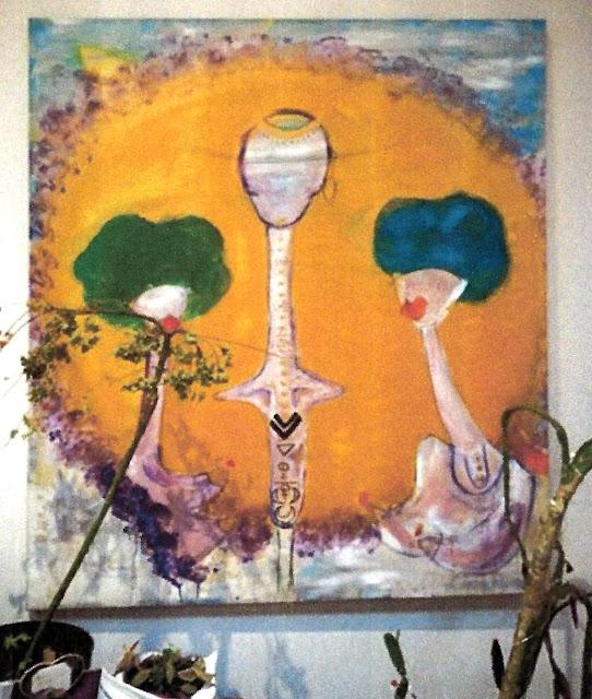 Oeuvre de JA  - Femme Sacrée - Créativité
