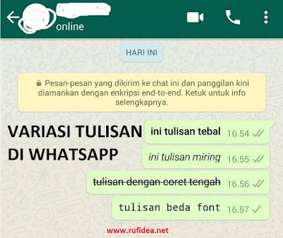 variasi tulisan whatsapp