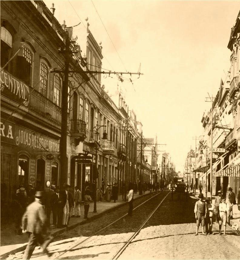 Porto Alegre: Rua da Praia, em 1890