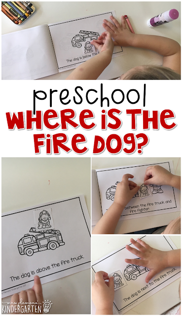Learn about positional words with this fire safety interactive emergent reader book. Great for tot school, preschool, or even kindergarten!