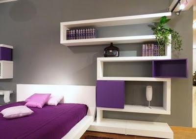 Decoración de interiores con tonos violeta y morados.