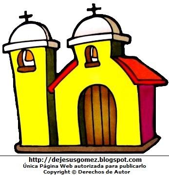 Dibujo de iglesia a color para niños por Jesus Gómez