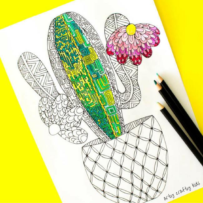 Reciclando con Erika : Cactus para colorear GRATIS