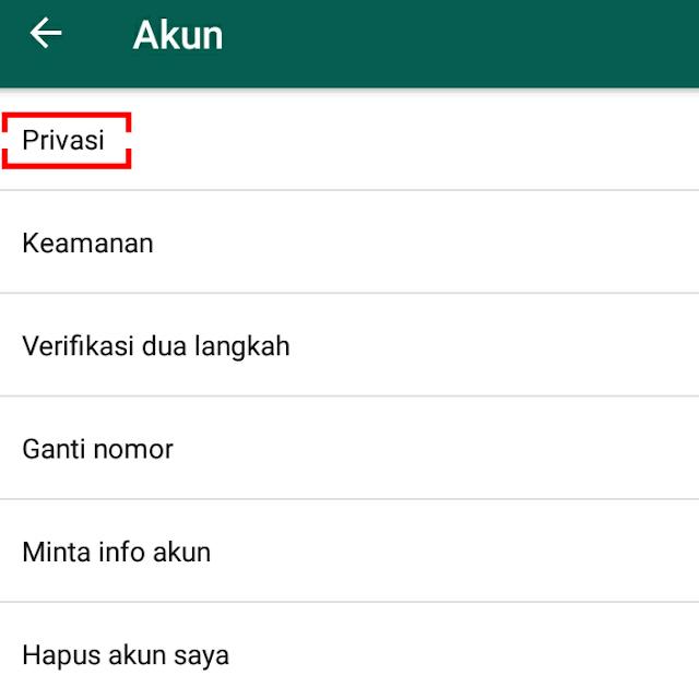 cara menonaktifkan riwayat online whatsapp