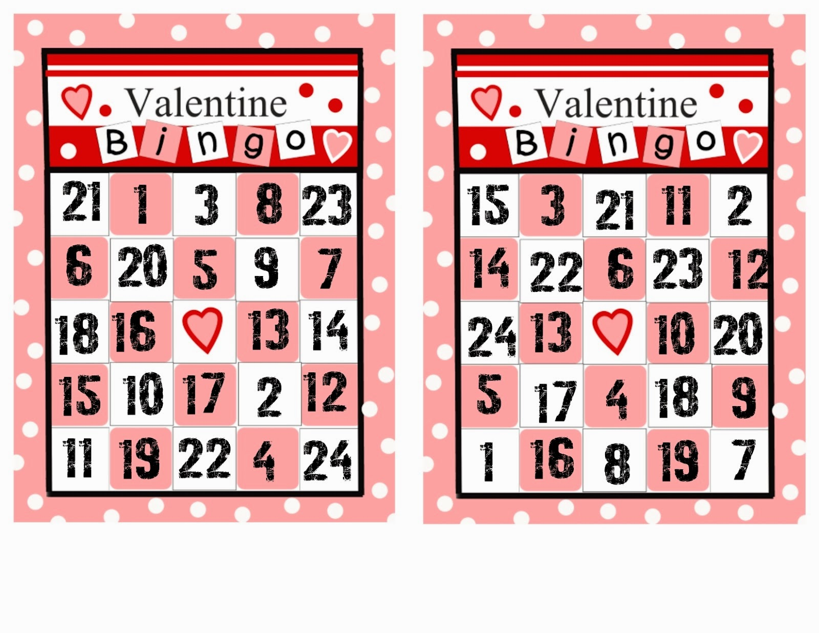 Valentines Crossword – Valentines Day Bingo Cards