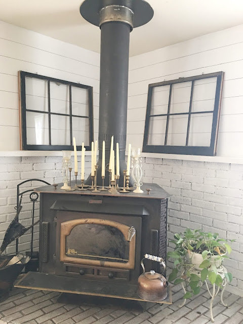 Woodstove as fireplace
