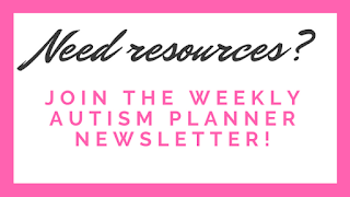 Join the Weekly Autism Planner newsletter!