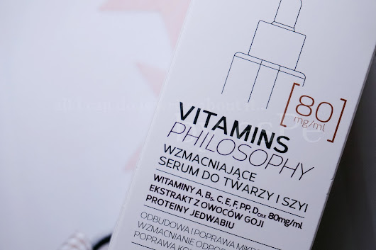 all I can do is write about it..: Mincer Pharma, Vitamins Philosophy Wzmacniające serum do twarzy