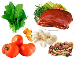 Витамины для волос вместе с пищей