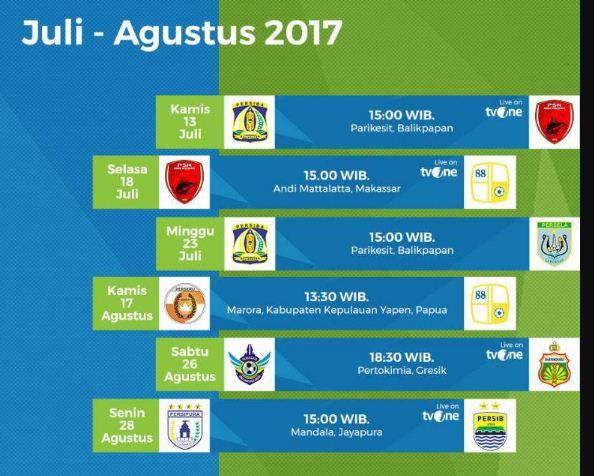 Jadwal Liga 1 2017 Pekan 12 Berubah Terkait Libur Idul Fitri