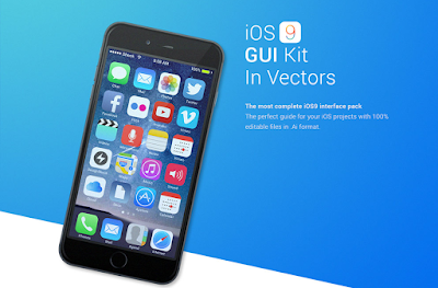 IOS 9 GUI Vector Kit