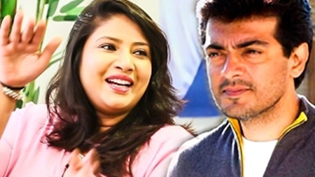 What did Ajith share with his 1st Heroine onscreen? | Sanghavi Exclusive | MaatheYosi