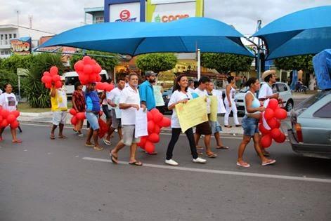 Caps de  Delmiro Gouveia promove passeata no Dia de Luta Antimanicomial.
