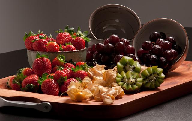 Frutas sobre a mesa