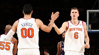 Enes Kanter and Kristaps Porzingis