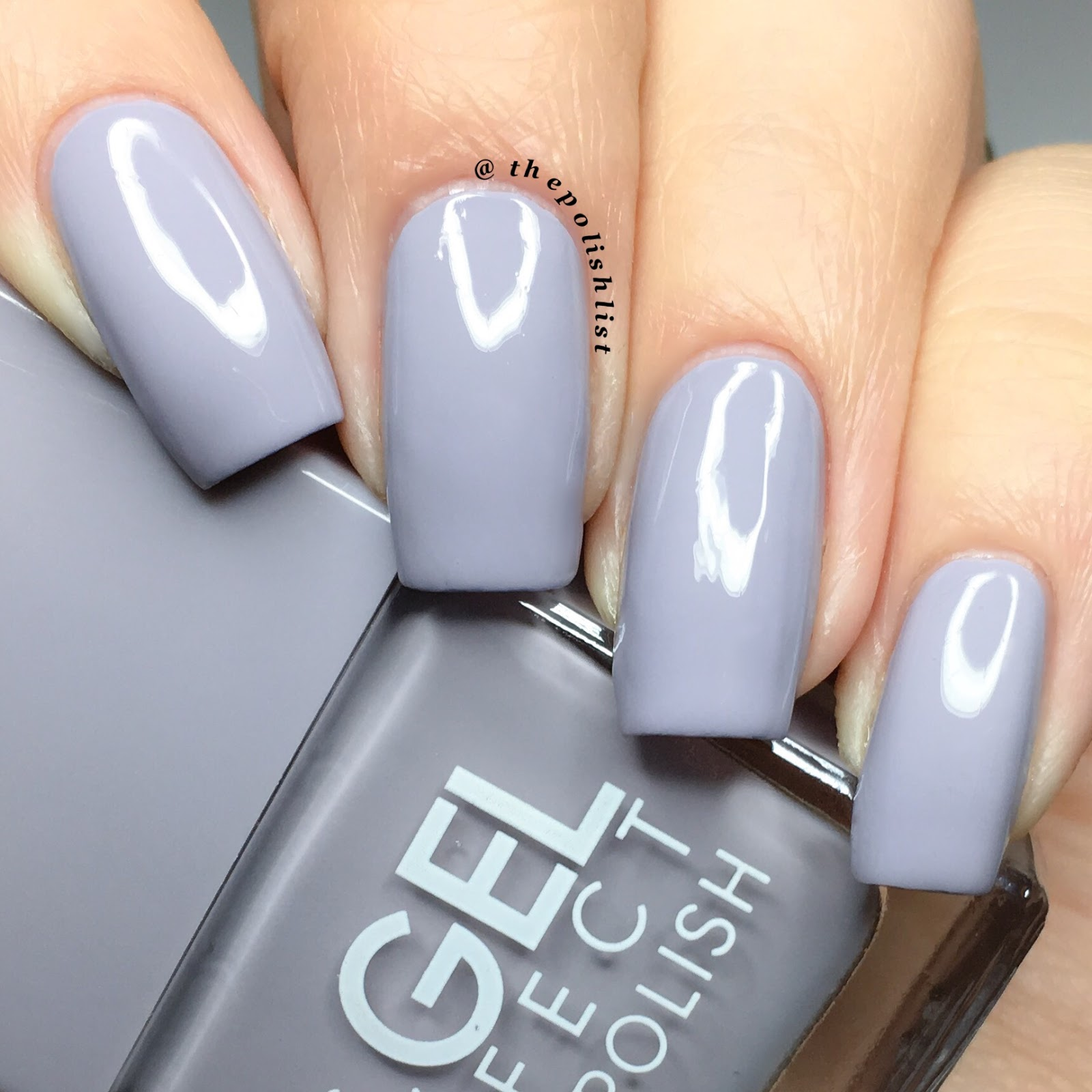 Blue Grey Gel Nail Polish | Best Nail Designs 2018