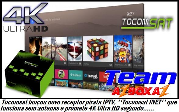 Resultado de imagem para Tocomsat 4k Ultra HD