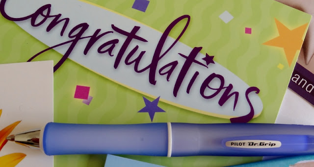Congratulations card ready to personalize