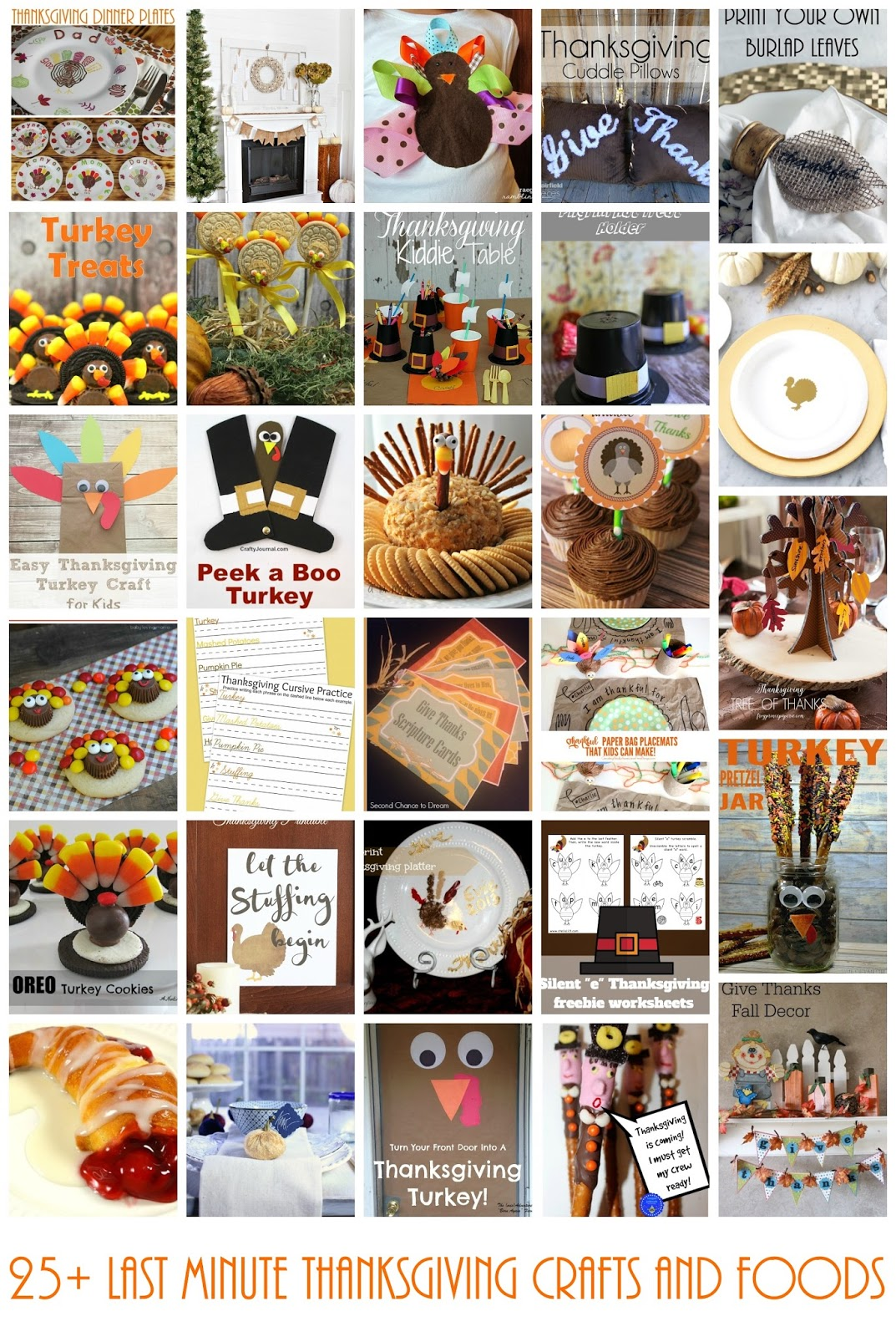 25 Last Minute Thanksgiving Crafts And Foods And Block