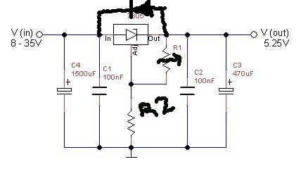 DEXTER's Electronics lab: Cookbook : Simple Power supply