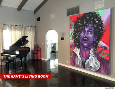 aRTIST Madsteez paints Prince portrait for rapper the game