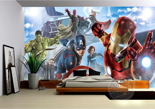 Avengers Wall Mural Photo Wallpaper Children Room
