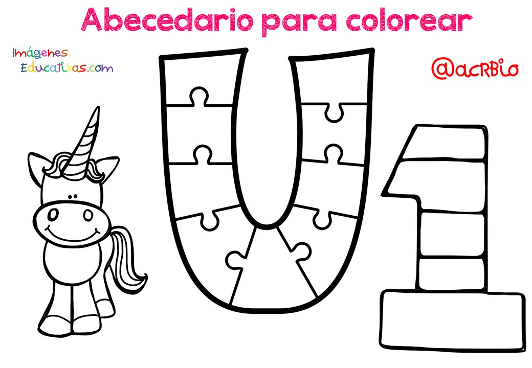 Dibujos De El Abecedario Para Colorear: IMAGENES PARA EDUCACION: Abecedario Para Colorear