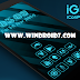 iGlow Blue Icon Pack v1.0.1 Apk