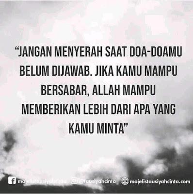 Jangan Menyerah Bila Doa-Doamu Belum Di Jawab